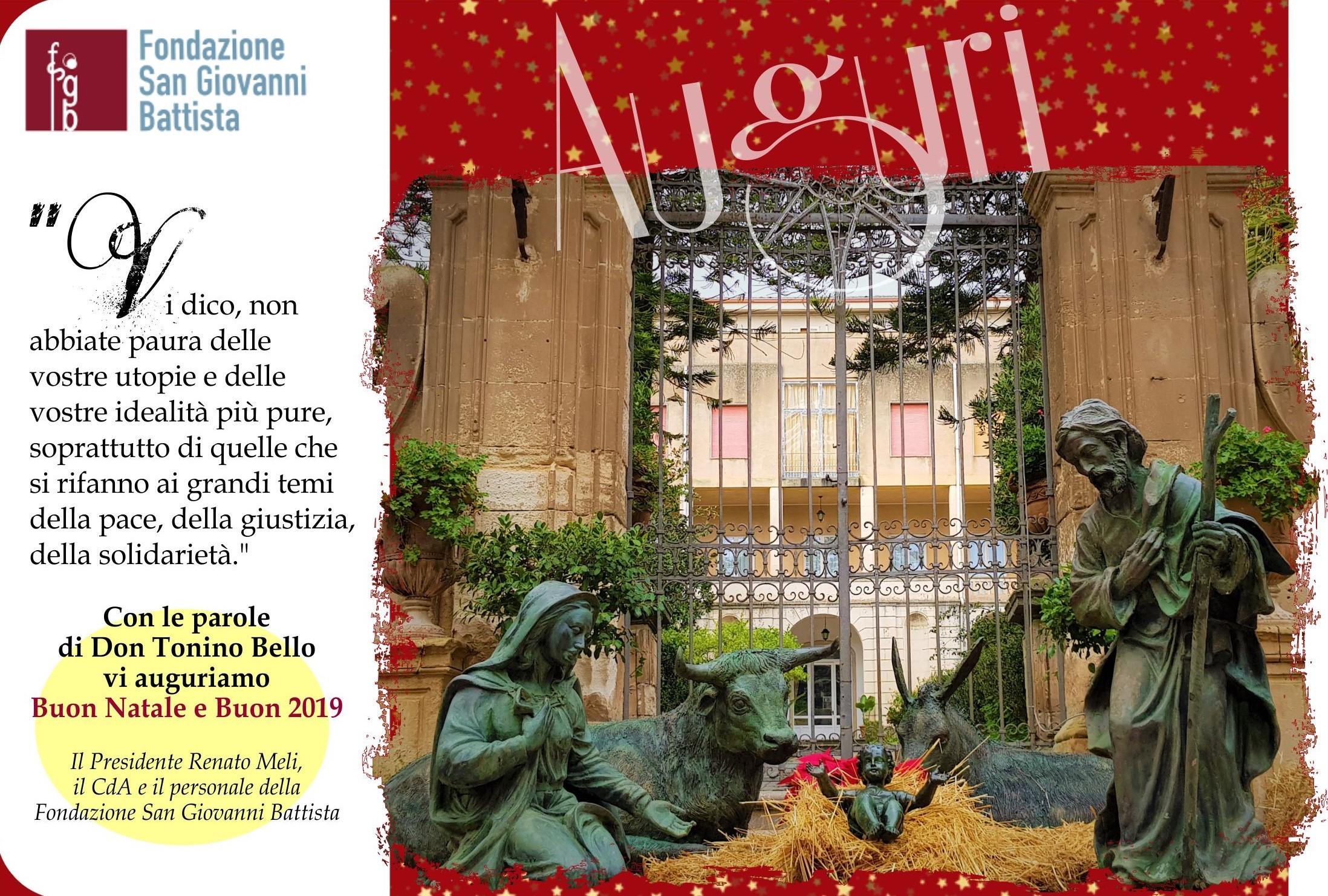 Parole Di Buon Natale.Buon Natale E Buon 2019 Fondazione San Giovanni Battista