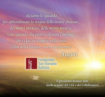 Messaggio Pasqua Fondaz San Giovanni